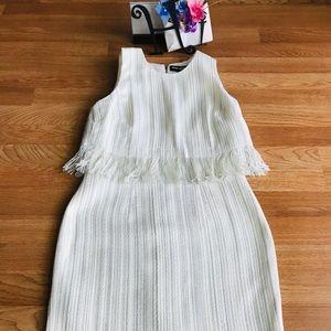 Karl Lagerfeld sparkly white pencil dress